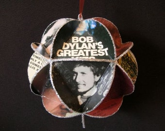 Bob Dylan Album Cover Ornament Made Of Record Jackets - Rock Music Gift