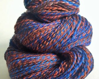 "Handspun Yarn -- ""Oceans Deep"" -- 100% superwash merino -- 296 yards fingering weight"