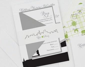 Vintage rustic wedding invitations with a modern by bdesignspaper modern san francisco wedding invitationsf wedding invitationssan francisco skyline wedding invites stopboris Choice Image