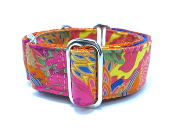 """Houndstown 1.5"""" Paintswirl Martingale or Buckle Collar Size Small through X-Large"""