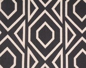 Nate Berkus Roca Onyx black diamond geometric decorative designer pillow cover