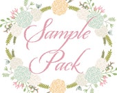 SAMPLE PACK Lace Wrapped Wedding Reception Invitations, Wedding Invites, Wedding Invitations, by Lavender Paperie on Etsy