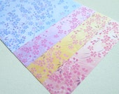 Sakura Collection - Shower of Cherry Blossoms - Double-sided Chiyogami Paper Pack for Japanese Origami 20 sheets