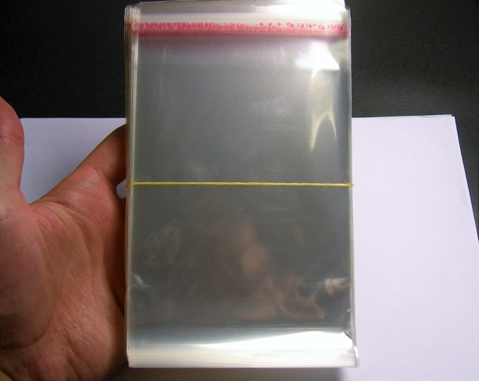 11cm x 18cm - 200 QTY plastic bags crystal clear polypropylene cello resealable bags - poly bags - PB1118