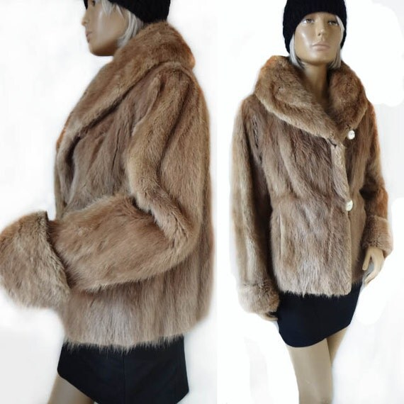 manteau de fourrure de vison vintage vente ann es 1960 vison. Black Bedroom Furniture Sets. Home Design Ideas