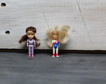 Vintage Mini Gymnastic Dolls with Big Hair