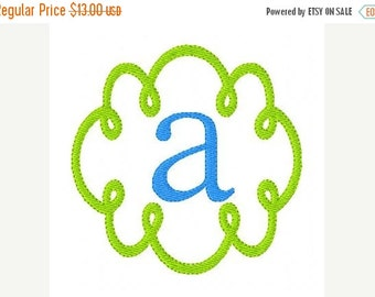 SALE Swirly Doodle Machine Embroidery Monogram Font Design Set