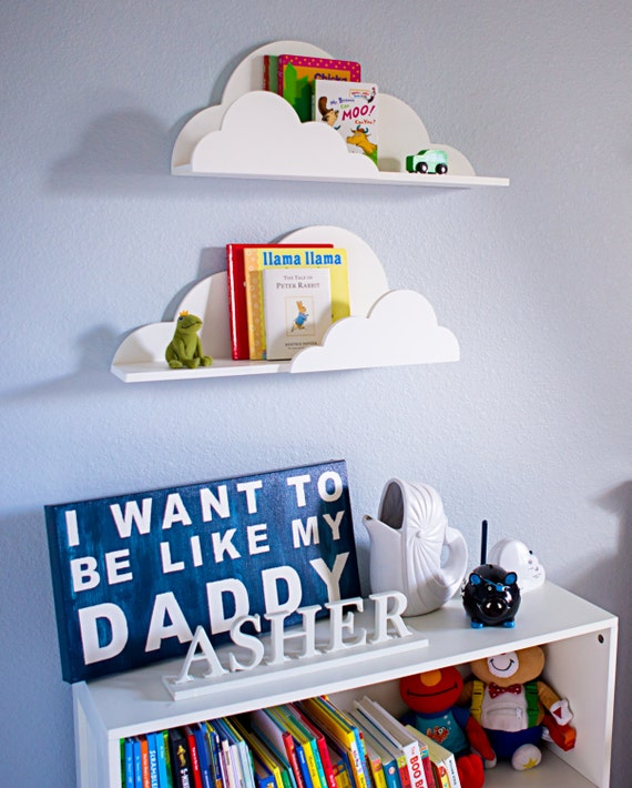 Kids Room Wall Design: Cloud Shelf For Kids Room Baby Nursery Wall Decor By
