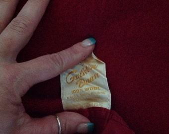 Vintage Golden Dawn 100% Wool Blanket 72 x 84