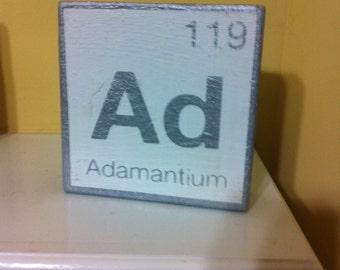 Adamantium Element plaque/ sign - Marvel Comics Wolverine / X-men
