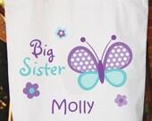 Big Sister Tote Bag  Girls Bag White Cotton Tote Bag Big Sister Bag -   Any wording