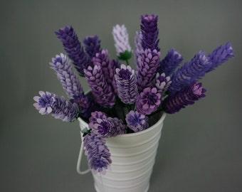 Paper Lavender Stems