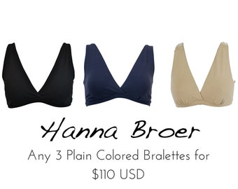 3 PLAIN Coloured Bras Combo