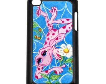 Web of Love Pink Frog Apple iPod Touch 4g Hard Case Original Animal Art Choose Case Color