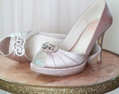 Wedding Shoe - Bridal Shoe - High Heel  -Heel Size 3 1/4 Inch - Wedding Shoe Peep Toe - Wedding Shoe Heels - Dyeable Shoe 200 Shoe Colors