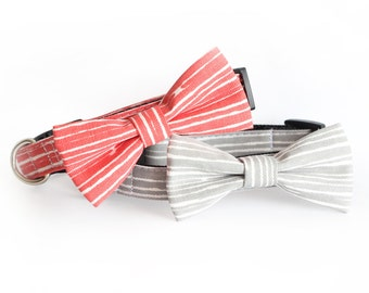 New Color! Forest HIll, Dog Bow tie Collar, cat bow tie collar, pet collar, dog collar, bow tie, bowtie for dog