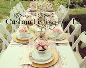 Custom Listing: Pink and Gold Boutique Custom Princess Tea Party/Teapot Tea pot  Invitations Set of 12 for TP