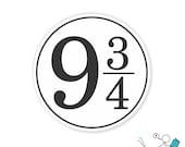 9 3/4 bumper sticker or laptop decal