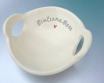 Name Bowl  (birthday gift, valentine's day gift, gift for girl, gift for boy, mother's day, teacher appreciation)