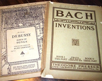 Set of two antique sheet music booklets