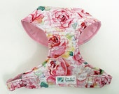 Rose Floral Comfort Soft Dog Harness - Made to Order -