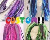 Custom You Pick Colors Cyberlox Neon Full Length Cyberpop Kawaii Pink Blue Green Yellow Orange Red Black white Purple Cybergoth Pastel