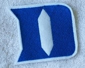 "Duke Blue Devils ""D"" Applique/Patch/Feltie/Iron on"