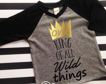 Where the wild things are birthday shirt wild and one birthday shirt king of all wild things birthday shirt first birthday shirt 1st