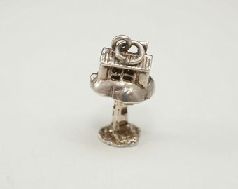 Amazing Vintage English Sterling Tree House Charm (Opens to reveal Pixie)