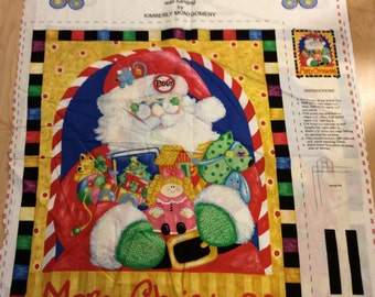 An Adorable Merry Christmas With Santa No Pout Zone Cotton Fabric Panel Free US Shipping