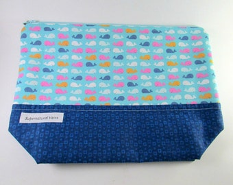 Mini Whales Zipper Project Bag