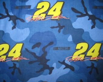 28X44 JEFF GORDON FLANNEL Fabric, blue camo fabric, jeff gordon fabric, jeff gordon flannel, blue camo flannel, nascar flannel, nascar