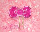KITTY BOW Paper Clip in dark pink