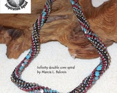KIT and PATTERN Infinity Spiral necklace bracelet double core variation