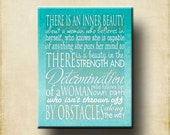 Inner Beauty Woman Word Art Print 18x24 Poster - ready to frame - Motivational Mother mom women girl gift