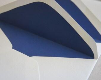 Lined Envelopes - Envelope liners - Navy Blue - Eco-friendly - Set of 10