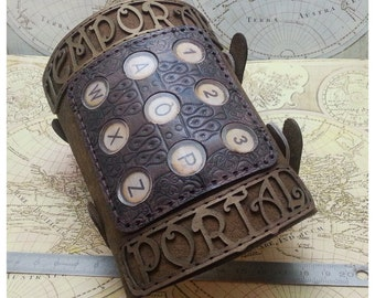 Steampunk Distressed leather Time travelling Arm Bracer Cuff - limited edition