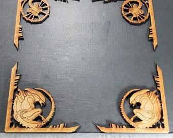 Alien  Mdf chipboard Craft Frame Embellishments. 2mm Engraved mdf. Aliens, Journal art