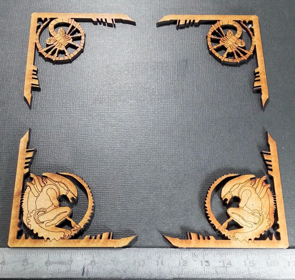 Alien mdf chipboard craft frame embellishments mm engraved