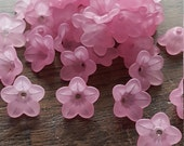 Pack of 50 Pink Flower Beads, Petal, Bargain Price of 1 pound while stocks last