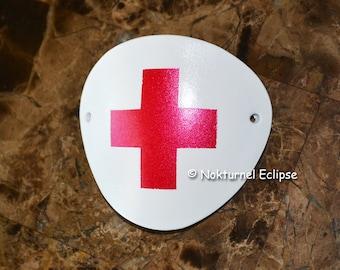 White Leather Eye Patch Red Medical Cross Nurse Kill Bill Elle Driver Fetish Halloween Cosplay Comic Con Marvel Geek Horror Costume