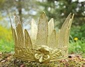 Garden Princess Vintage Metal Crown In GOLD