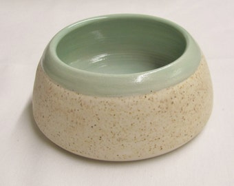 Spaniel Water Bowl Ceramic Bowl Handmade Bowl Pet Bowl White Stoneware Ceramics and Pottery Home Decore Serving Dish Ceramic Pottery Dishes