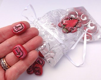 Rambling Runes Sacred Heart Rune set 1 by Marie Segal, a traveling divination set
