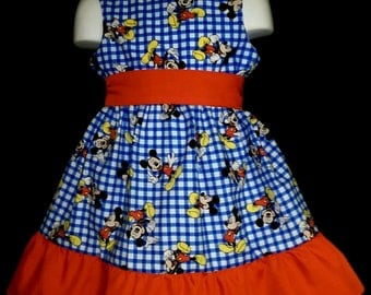 Sleeveless Summer Dress Mickey Mouse Boutique 12/18M 24M/2T 3T/4T 5/6 Pageant New