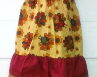 Pillowcase Dress & Pants Set Turkey Farm Thanksgiving Boutique 12/18M 24M/2T 3T/4T 5/6 Pageant