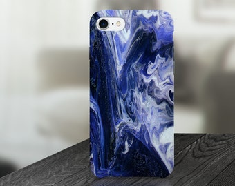 Blue Marble Abstract Cell Phone Case -  IPHONE 6, 6S, 6 Plus, 6S Plus / Samsung Galaxy S6 Edge, S6, S7 -made to order