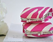 Lauralee in Pink - Tiny Kiss lock Coin Purse/Jewelry holder