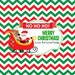 Merry Christmas, Happy Holidays, santa, elves, personalized candy bar wrapper PRINTABLE, christmas treat, christmas favor, stocking stuffer