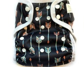 One Size Eco-PUL Cloth Diaper Cover Arrows